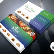 Best Restaurant Business Card PSD