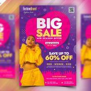 Fashion Big Sale Flyer PSD