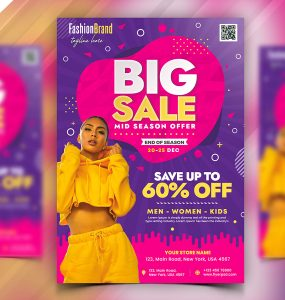 Fashion Big Sale Flyer PSD