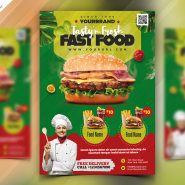 Fast Food Restaurant Menu Flyer PSD