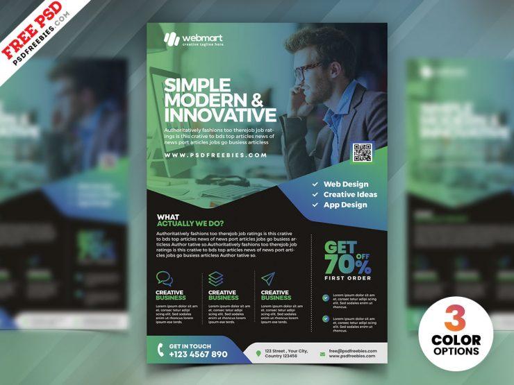 Latest Corporate Flyer Design PSD
