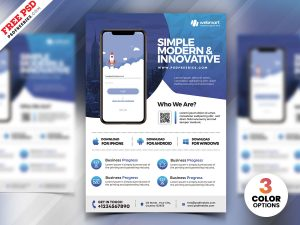 Mobile App Promotion Flyer PSD