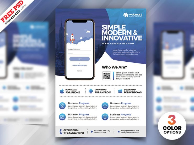 Mobile App Promotion Flyer PSD