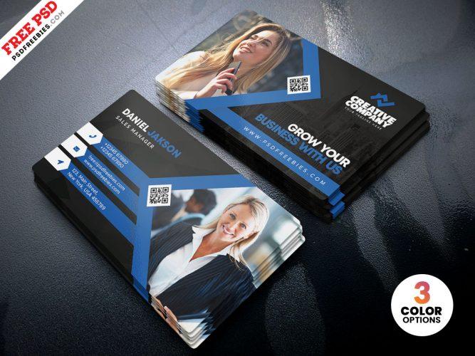 Modern Business Card PSD Template