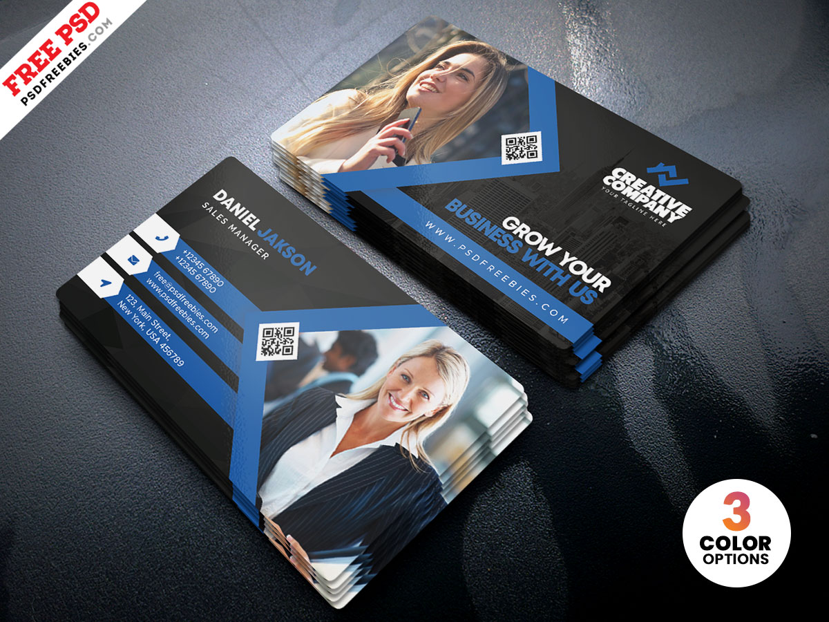 modern business card psd template  psdfreebies