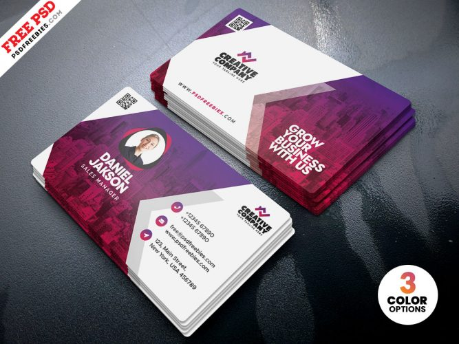 Modern Corporate Business Card PSD