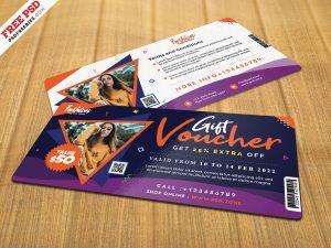 Modern Gift Voucher Design PSD