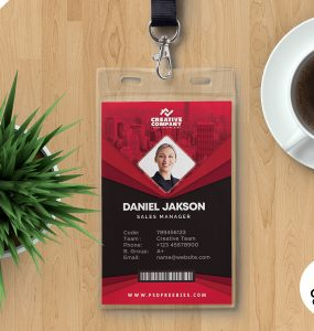Print Ready Corporate ID Card Design PSD