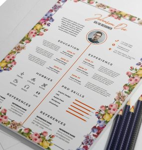 Beautiful Resume CV PSD Template