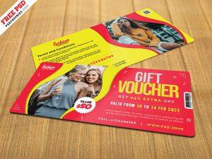 Fashion Store Gift Voucher Design PSD