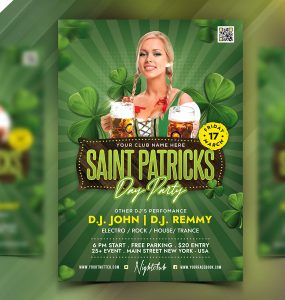 Saint Patricks Day Celebration Flyer PSD