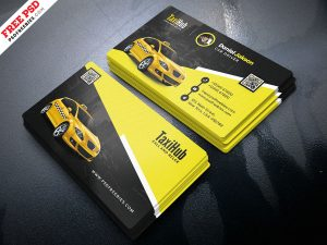 Taxi Service Business Card PSD