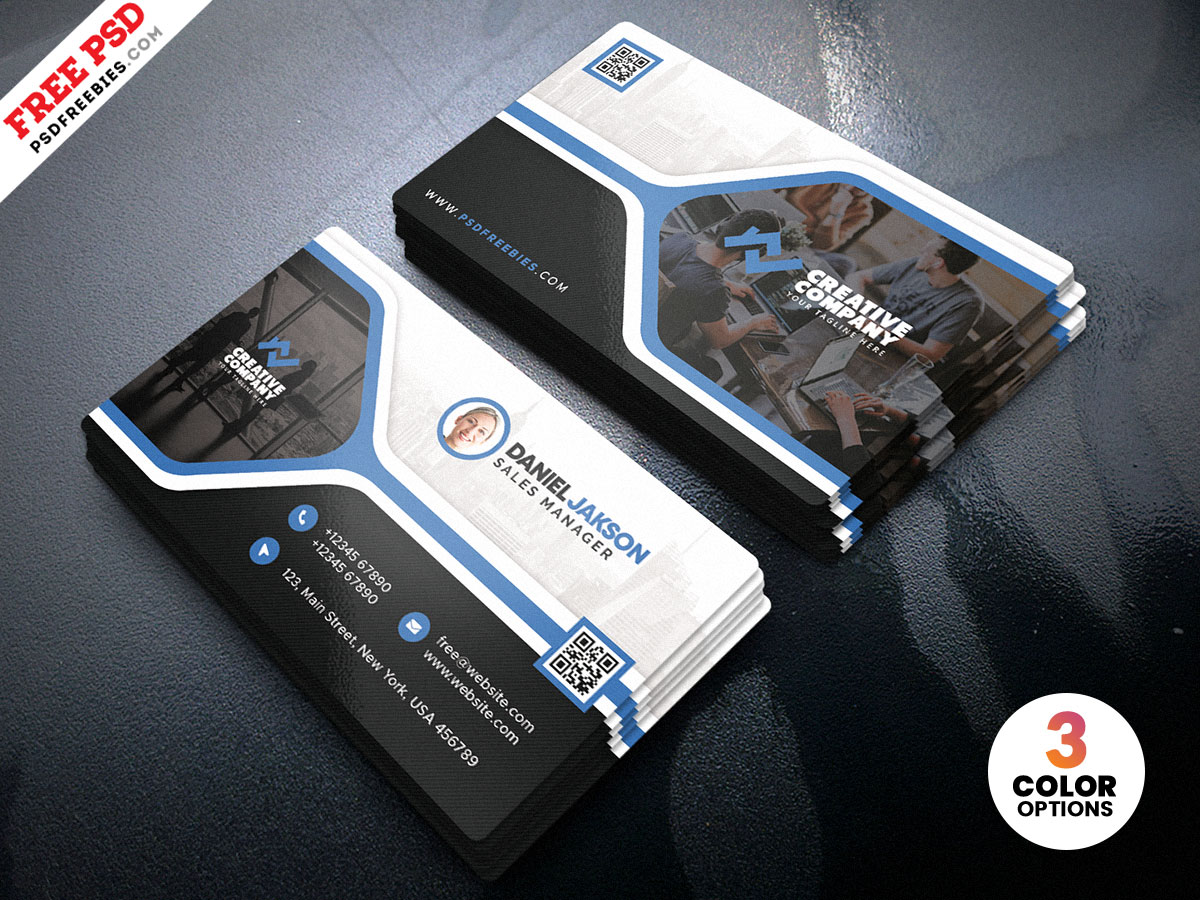 Creative-Business-Card-Design-PSD – PSDFreebies.com Inside Creative Business Card Templates Psd