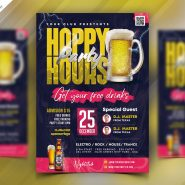 Happy Hour Club Party Flyer PSD