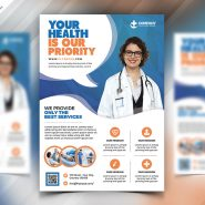 Hospital and Health Care Flyer PSD