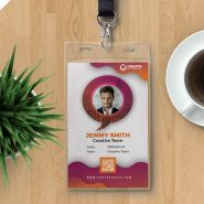 Office Corporate Photo Identity Card PSD