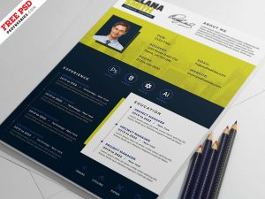 Clean Modern Resume CV PSD Template