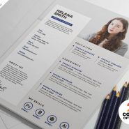 Clean and Fresh Resume Design PSD Template