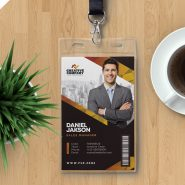 Employee Photo ID Card PSD Template