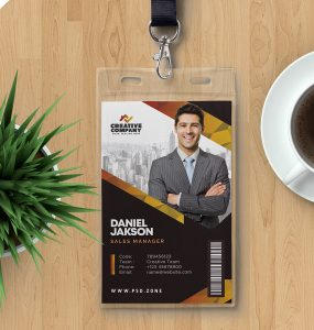 Employee Photo ID Card PSD Template