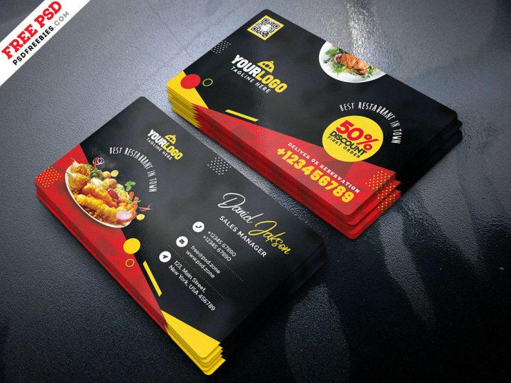 Fast Food Restaurant Business Card PSD