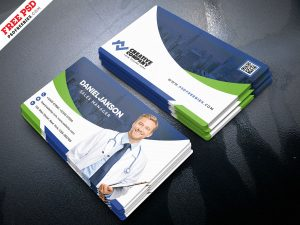 Hospital and Health Care Business Card PSD