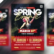 Spring Break Party Flyer PSD