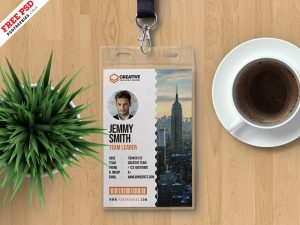 Awesome Photo Identity Card PSD Template