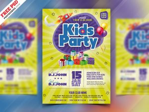 Kids Party Flyer PSD Template