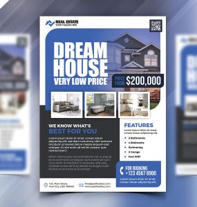 Real Estate Business Marketing Flyer PSD
