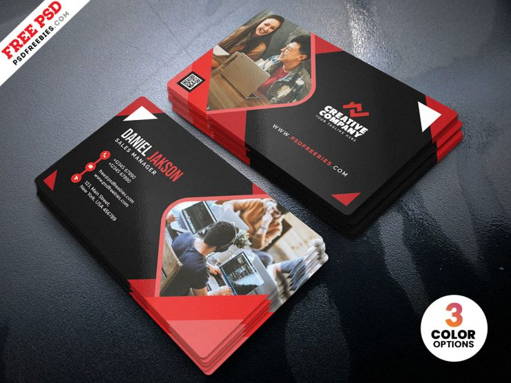 Abstract Business Card PSD Template