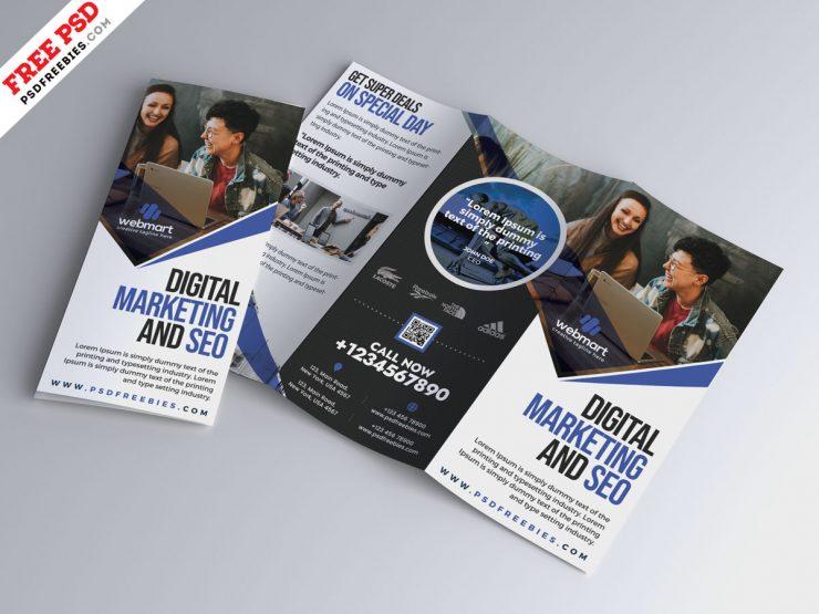 Business Tri-Fold Brochure Design PSD