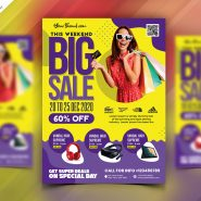 Colorful Big Sale Flyer PSD Template