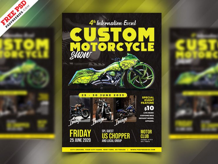 Motorcycle Show Event Flyer PSD