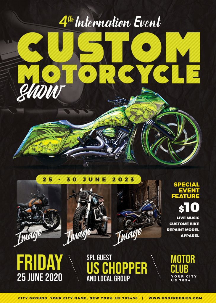 Motorcycle Show Event Flyer Psd Psdfreebies Com