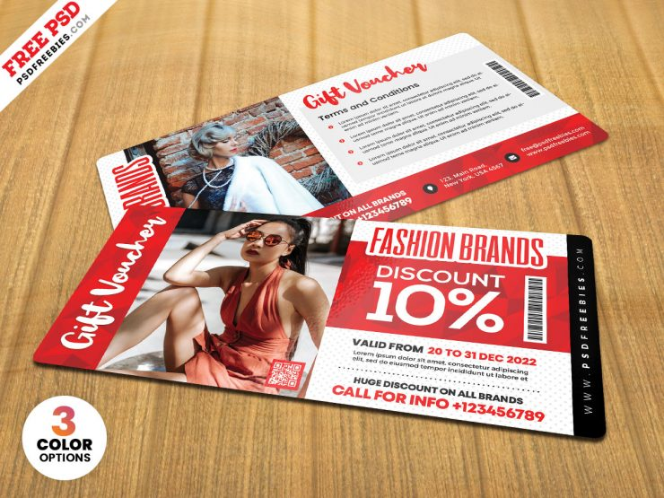 Multipurpose Gift Voucher Design PSD
