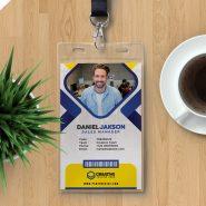 Office Employee Identity Card Design PSD