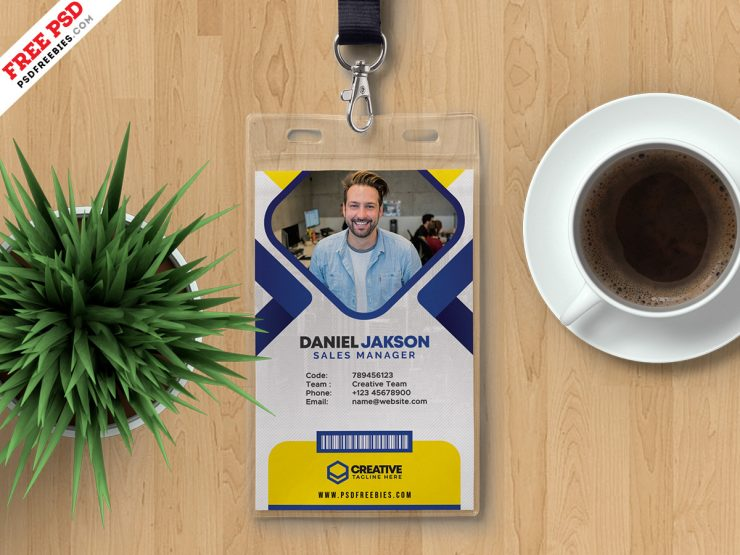 Office Employee Identity Card Design PSD