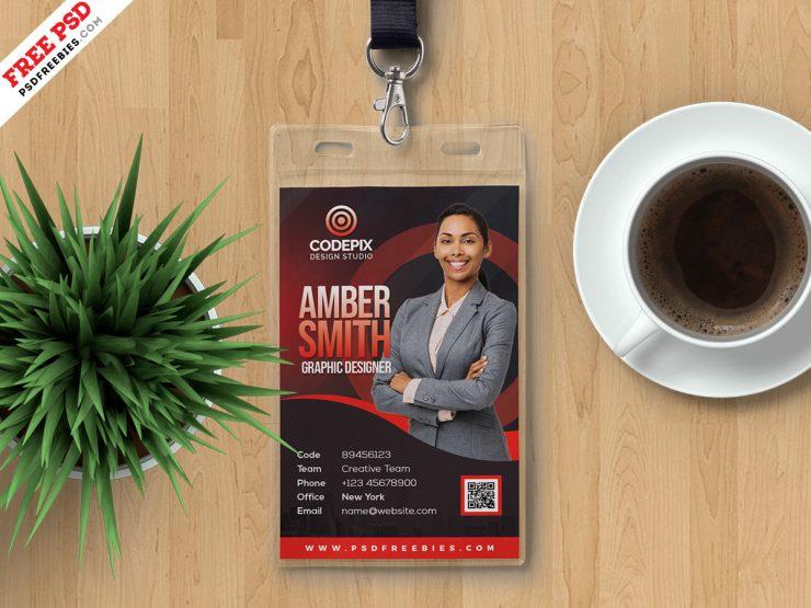 Employee Photo Identity Card PSD