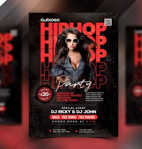 Hip Hop Music Party Flyer PSD