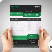 Payment Invoice Design PSD Template