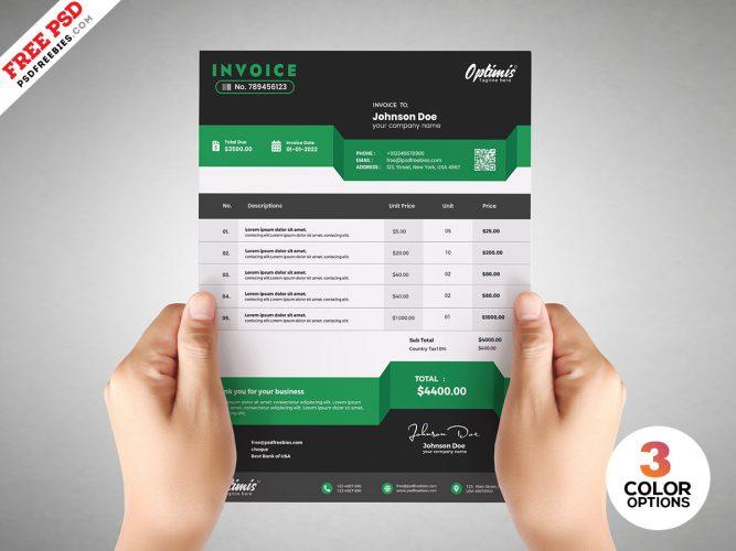Payment Invoice Design PSD Template
