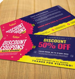 Beautiful Discount Coupons Template PSD
