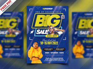 Big Fashion Sale Flyer PSD Template