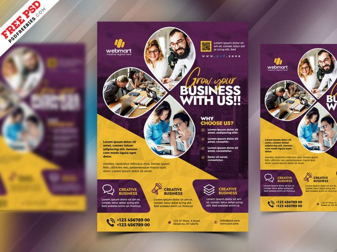 Business Promotion Creative Flyer Design PSD