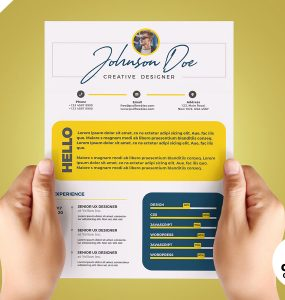Cool and Colorful Resume CV PSD Template