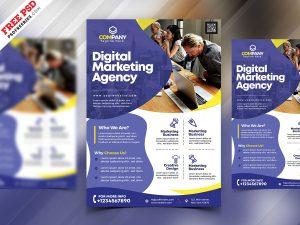 Marketing Agency Promotion Flyer PSD
