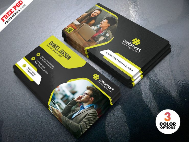 Professional Business Card Design PSD Template