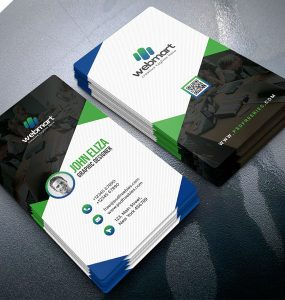 Professional Vertical Business Card Design PSD