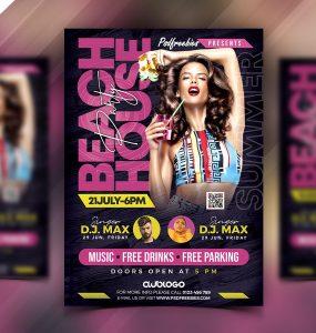 Beach Party Flyer Template PSD